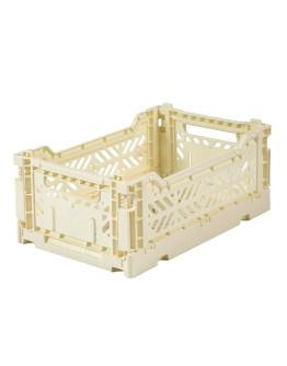AYKASA - Folding crate Small - Banana