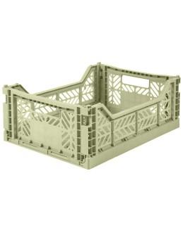 AYKASA - Folding crate Midi - Lime cream