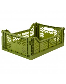 AYKASA - Folding crate Midi - Olive