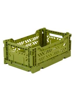 AYKASA - Folding crate Small - Olive