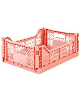 AYKASA - Folding crate Midi - Salmon