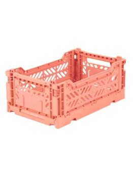 AYKASA - Folding crate Small - Salmon