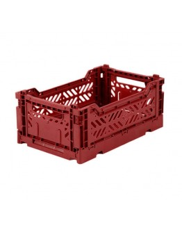 AYKASA - Folding crate Small - Tile red