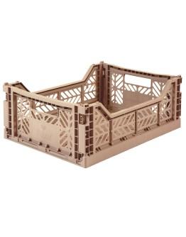 AYKASA - Folding crate Midi - Warm taupe