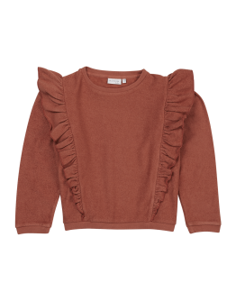 BLOSSOM KIDS - Sweater volant - Deep Coral
