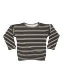 BLOSSOM KIDS - Long sleeve Petit Stripes - Espresso black