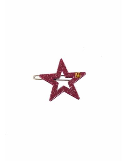 BonDep - Haarspeld Star clip - Aubergin gloss