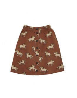 CARLIJN Q - Wild horse Skirt with buttons - French terry