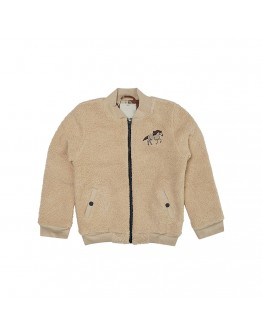 CARLIJN Q - Wild horse Teddy bomber jacket with embroidery