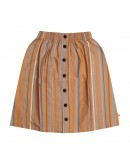 CARLIJN Q - Multi color stripes - Long Skirt with buttons