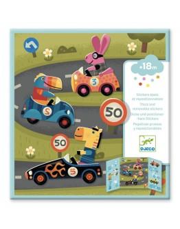 DJECO - Herbruikbare stickerset Auto's - 18 mnd+