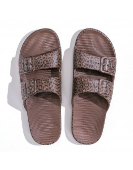 FREEDOM MOSES - Slippers Wildcat Choco