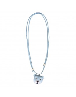 GLOBAL AFFAIRS - Necklace Woolfelt Bear Blue