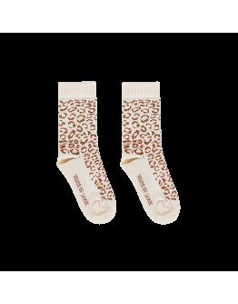 HOUSE OF JAMIE - Ankle socks Cream & Toffee Leopard