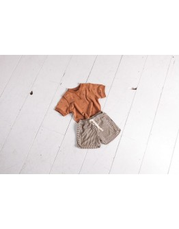 HOUSE OF JAMIE - Crewneck Tee - Burnt Ginger Kites