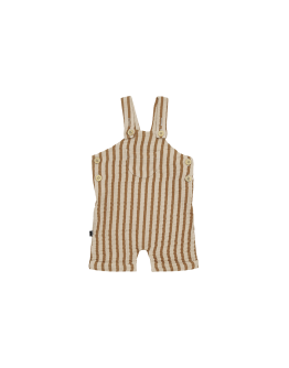 HOUSE OF JAMIE - Relaxed Dungaree - Verticle Apple Cider Stripes