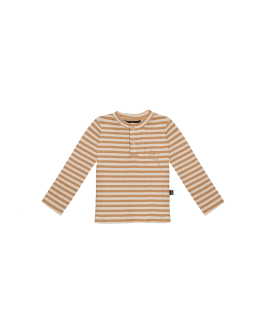 HOUSE OF JAMIE - Rib Longsleeve Tee - Apple Cider Stripes