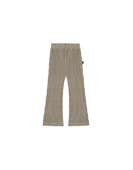HOUSE OF JAMIE - Flared pants - Charcoal stripes