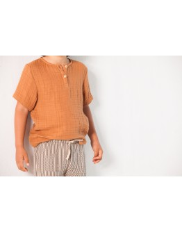 HOUSE OF JAMIE - Henley shirt - Burnt ginger