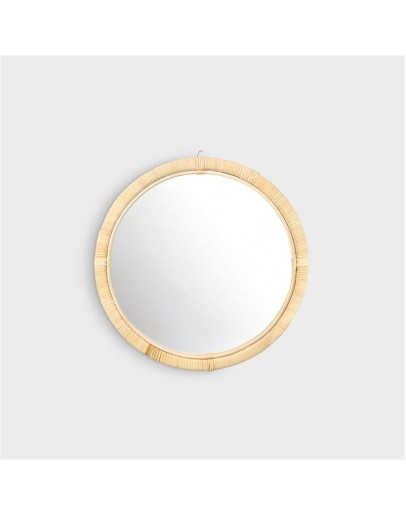 &KLEVERING - Spiegel rond bamboe Small