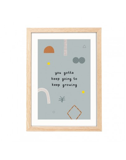 LEONIE VAN DER LAAN - Poster A4 Grafische quote - Keep going