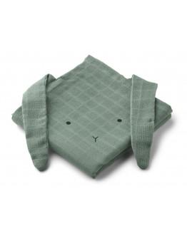 LIEWOOD - Hannah Muslin Cloth - Rabbit faune green