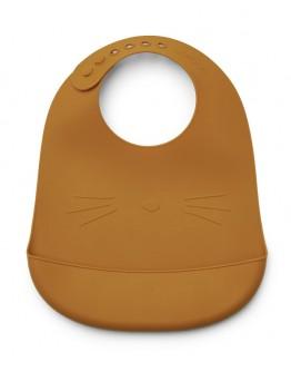 LIEWOOD - Tilda bib - Cat Mustard