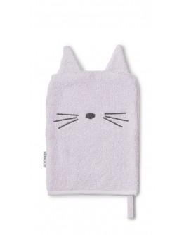 LIEWOOD - Sylvester washcloth - Cat lavender