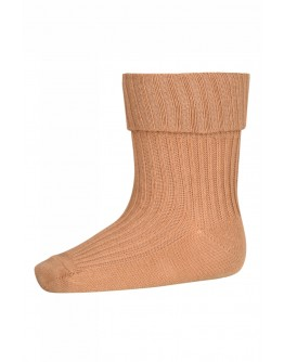 MP DENMARK - Cotton rib baby socks - 4155 Brown