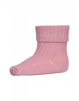 MP DENMARK - Cotton rib baby socks - 4271 Rose