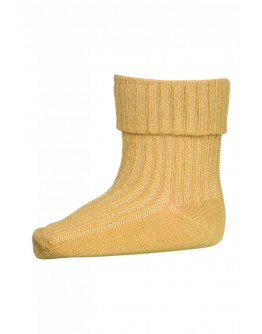 MP DENMARK - Cotton rib baby socks - 94 Yellow