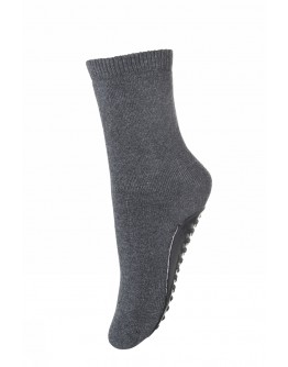 MP DENMARK - Cotton socks with anti slip - 497 Grey