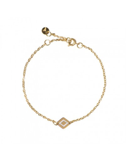 M'ADAM THE LABEL - Armband Ruby gold/steel