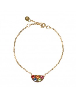 M'ADAM THE LABEL - Armband Rainbow gold