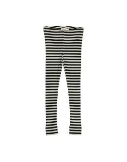 MARMAR COPENHAGEN - Legging modal stripes - Black/Off white