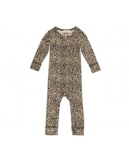 MARMAR COPENHAGEN - Baby one piece Leo suit - Brown leo