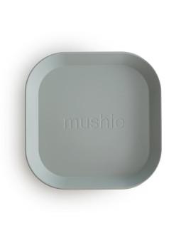 MUSHIE - Bord vierkant - set van twee - Sage