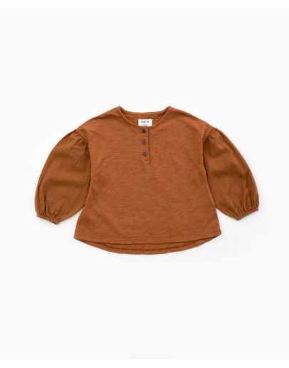 PLAY UP - Girl Tunic with a mixture of knitwear and cloth | Woodwork