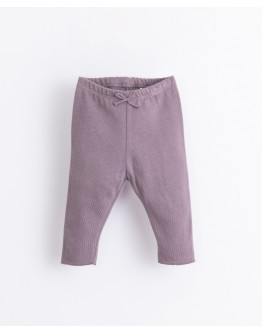 PLAY UP - Baby girl - Leggings with decorative bow   Illustration   Lavander