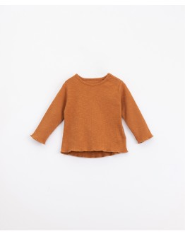 PLAY UP - Baby - T-shirt in organic cotton with shoulder opening | Illustration | Jar