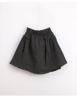 PLAY UP - Girl - Cotton skirt with vichy pattern | Illustration