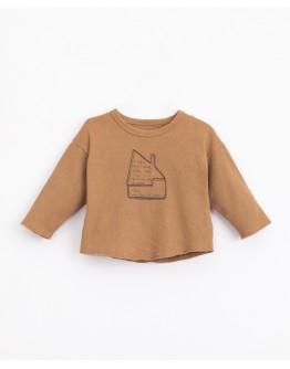PLAY UP - Baby boy - T-shirt with mixture of natural and recycled fibres | Illustration