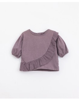 PLAY UP - Baby girl - T-shirt in cotton with frill | Lavander
