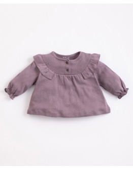 PLAY UP - Baby girl - ajour tunic in organic cotton| Lavander