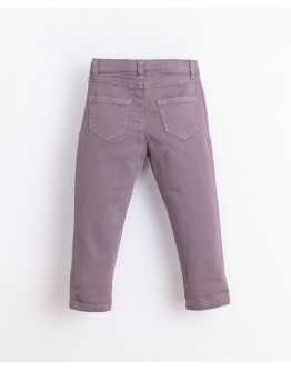 PLAY UP - Girl - Cotton serge trousers | Lavander
