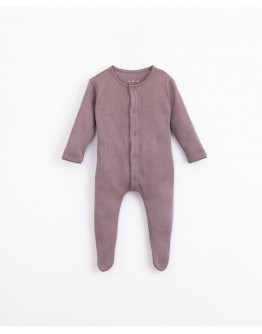 PLAY UP - Baby girl - Jumpsuit with ajour pattern | Illustration | Lavander