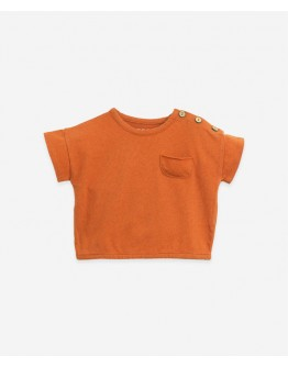 PLAY UP - Baby boy - T shirt in organic cotton and linen - Anise