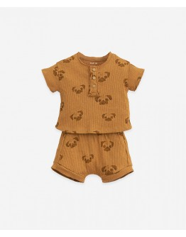 PLAY UP - Baby boy - Pyjamas in organic cotton with buttons | Pug print