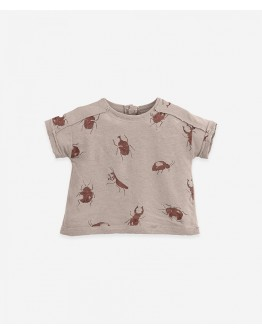 PLAY UP - Baby boy - T-shirt with print in organic cotton and linen | Bicho