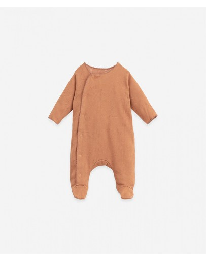 PLAY UP - Baby - Jumpsuit Ajour with front opening   Botany